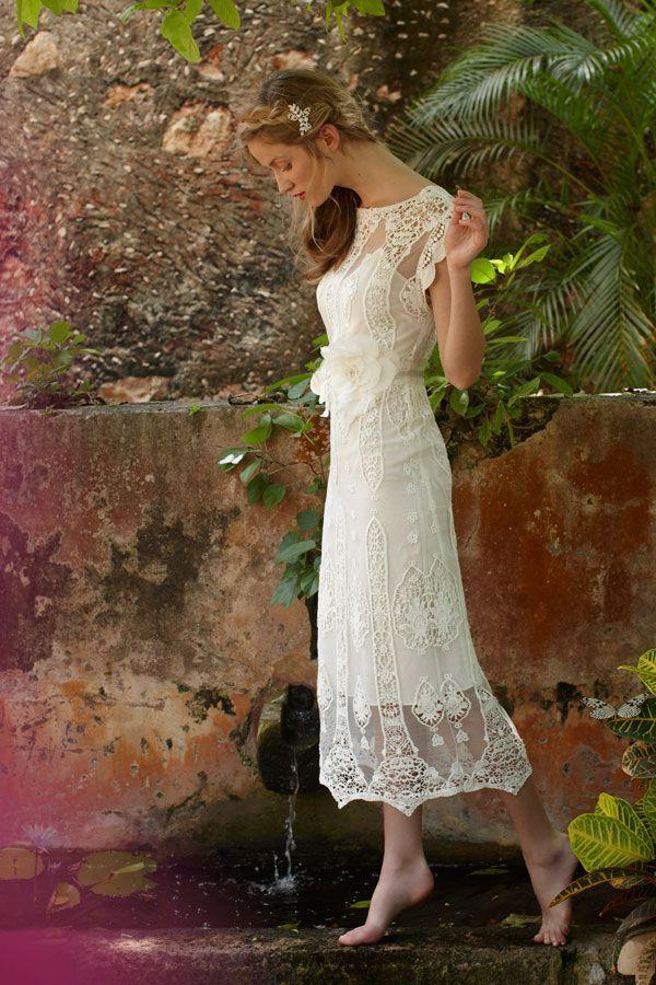 Midi length wedding dress alternative wedding dresses for Midi length wedding dress