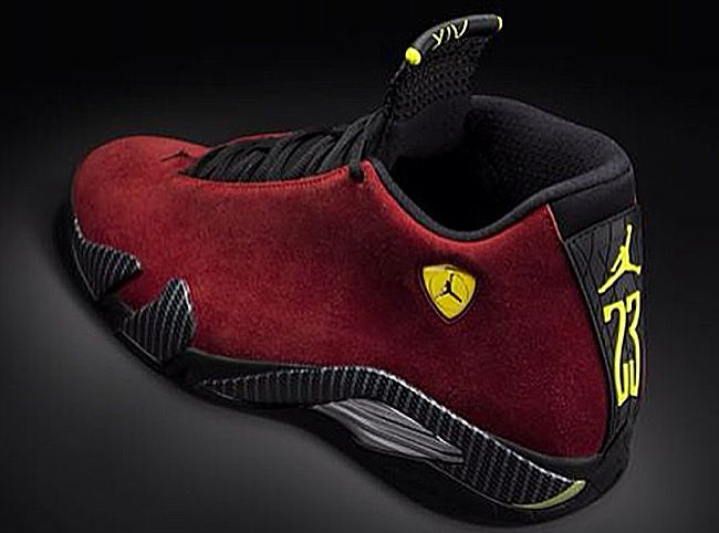 Mens Air Jordan Retro 14 CDP Black Red shoes