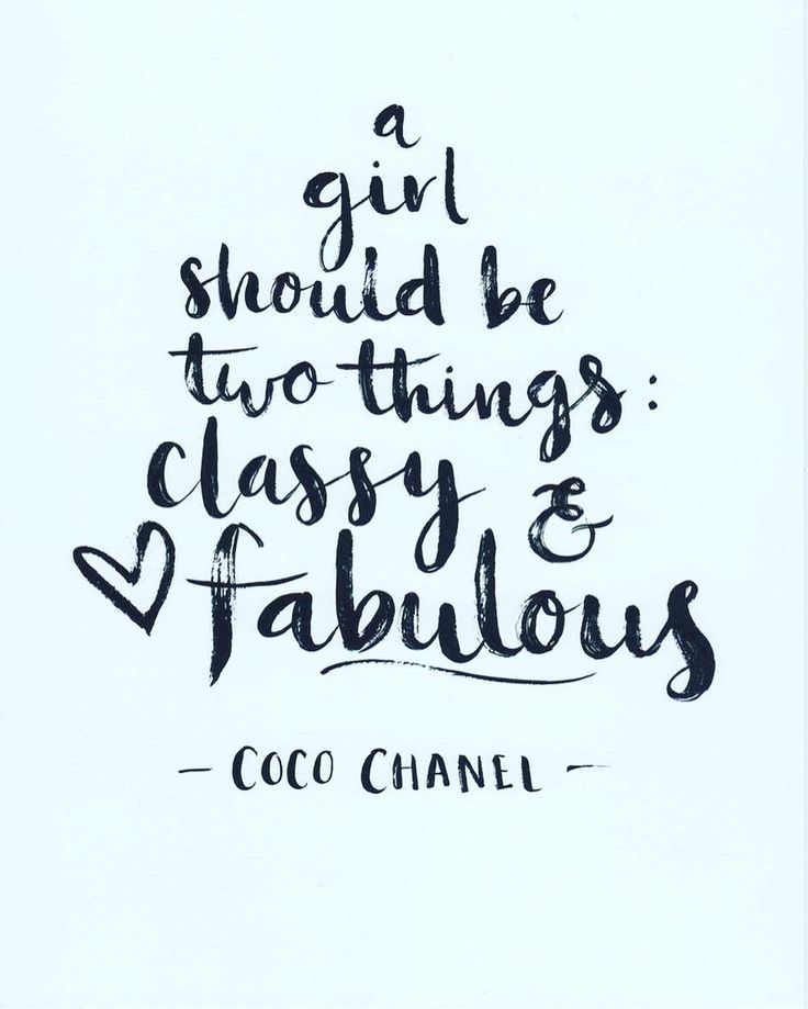 """A girl should be two things: #classy & #fabulous"" - #cocochanel  #beautiful #chic #lifestyle #instafashion #instastyle #instabeauty #bossbabe #motivation #inspiration #instalike #empowerment #fashion #Ambition #successful #instagood #goals #beauty #happy #happiness #girlboss #style #fashion #sunday #quote"