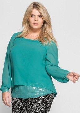 Tunika s pajetkami, sheego Style #avendro #avendrocz #avendro_cz  #fashion #discount #sheego #blouse