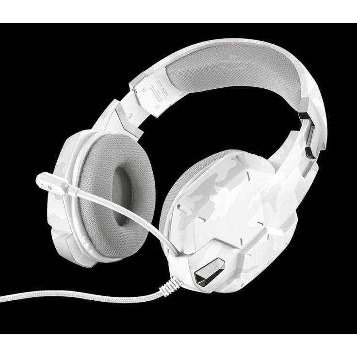 Trust GXT 322 Dynamic White - Párnázott gaming fejhallgató, flexibilis mikrofon és erőteljes basszus. Csatlakoztatható PC/Mobilkészülék, és XBOX ONE -hoz.