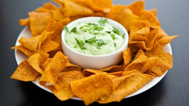 Blogger Angie McGowan of  Eclectic Recipes shares a light and herby chip dip recipe.