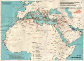 History of the Atlantic Cable & Submarine Telegraphy - Submarine Cable Route Maps- 1983