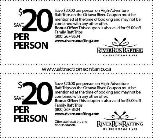 RiverRun Rafting & Wilderness Resort - 2015 Summer Coupon