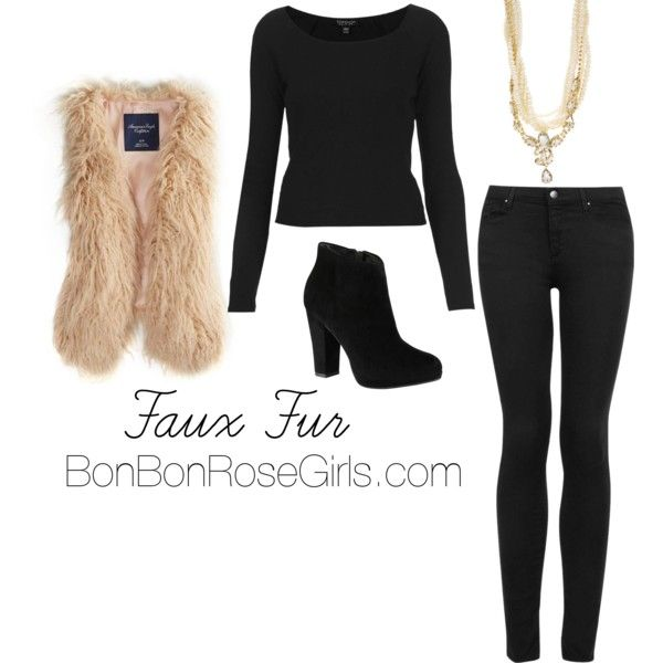How to wear a faux fur vest for fall