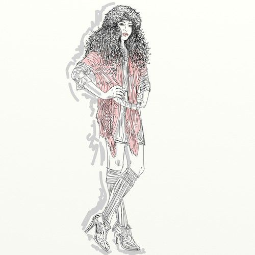 """Design di Series of mini """"Ways to Wear"""" fashion illustrations for Women's Luxury…"""