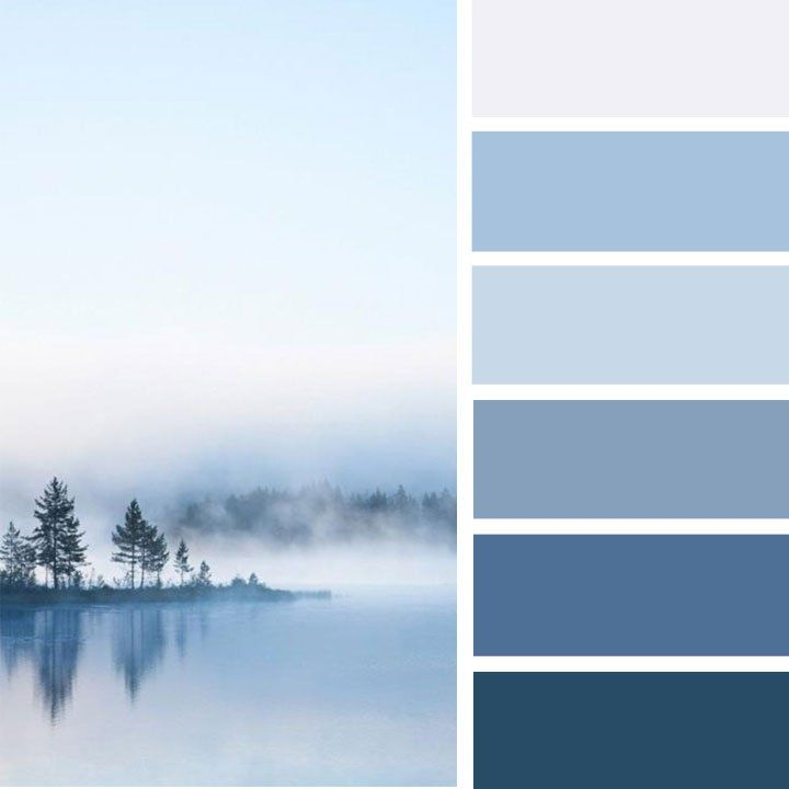 Light lilac and shades of blue color palette #colorinspiration #colorpalette #blue
