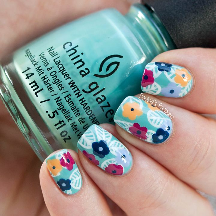Floral Pattern nail art inspired by Wondrously Polished