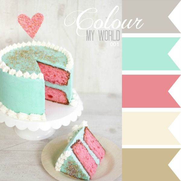 The Scrap Farm: Colour My World - combining colour with cake!