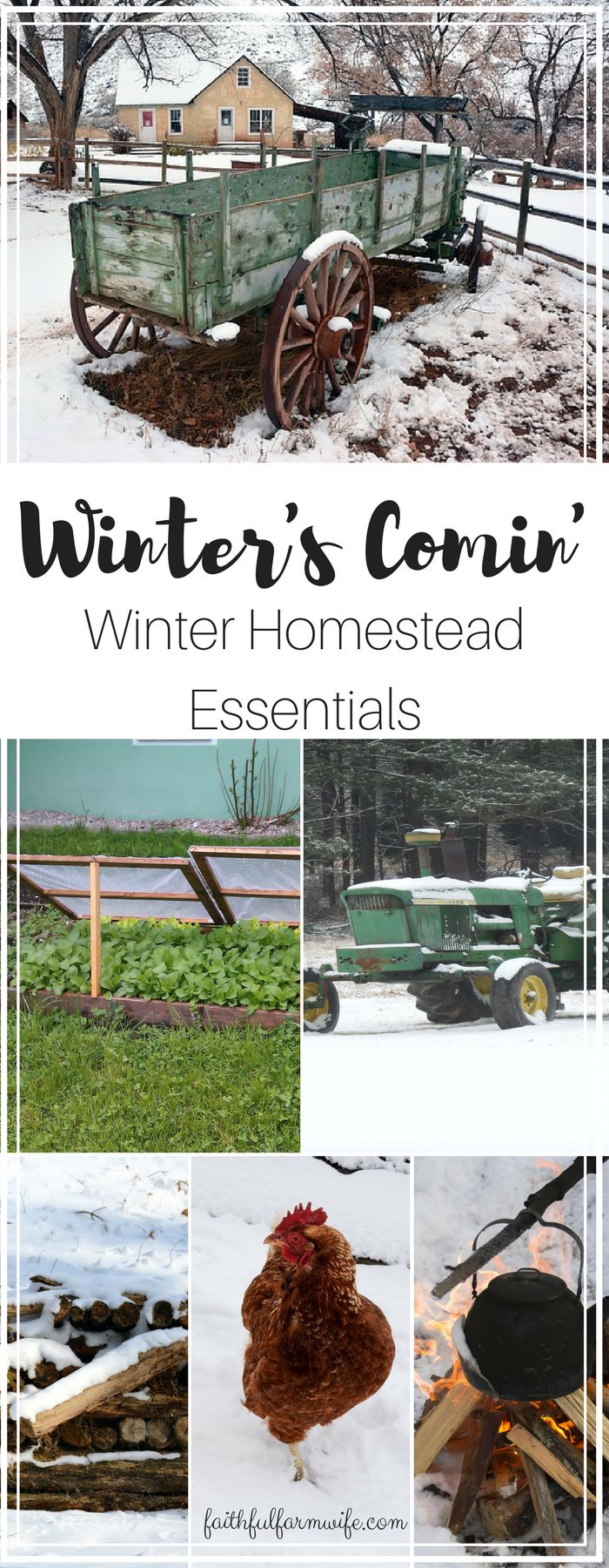 Everything on the homestead has to be prepped to survive the cold or you lose time, money, and lives. What do you consider winter homestead essentials?