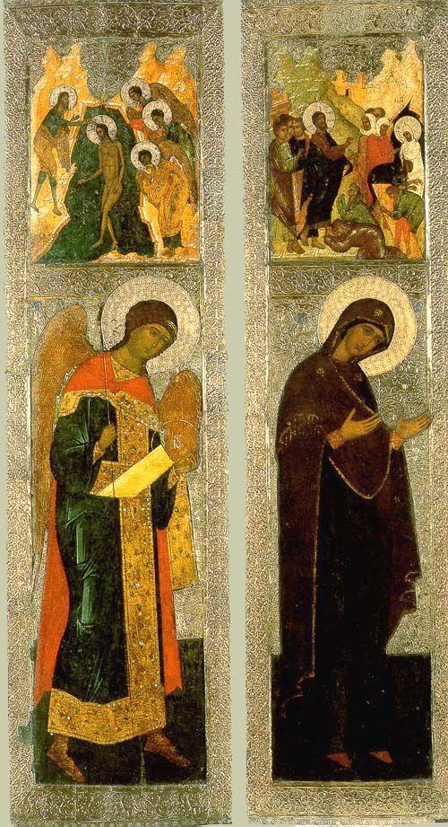Архангел Михаил; Богородица из деисуса XVI