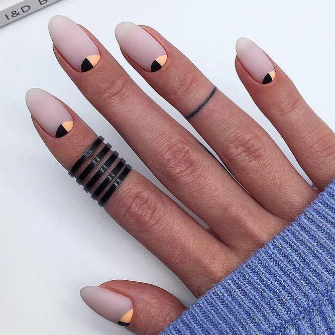 24 niedliche ovale Nageldesigns für jeden Anlass #Design #nail # … – Matter Nagel