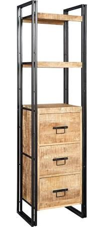 reclaimed wood narrow bookcase uk - Google Search