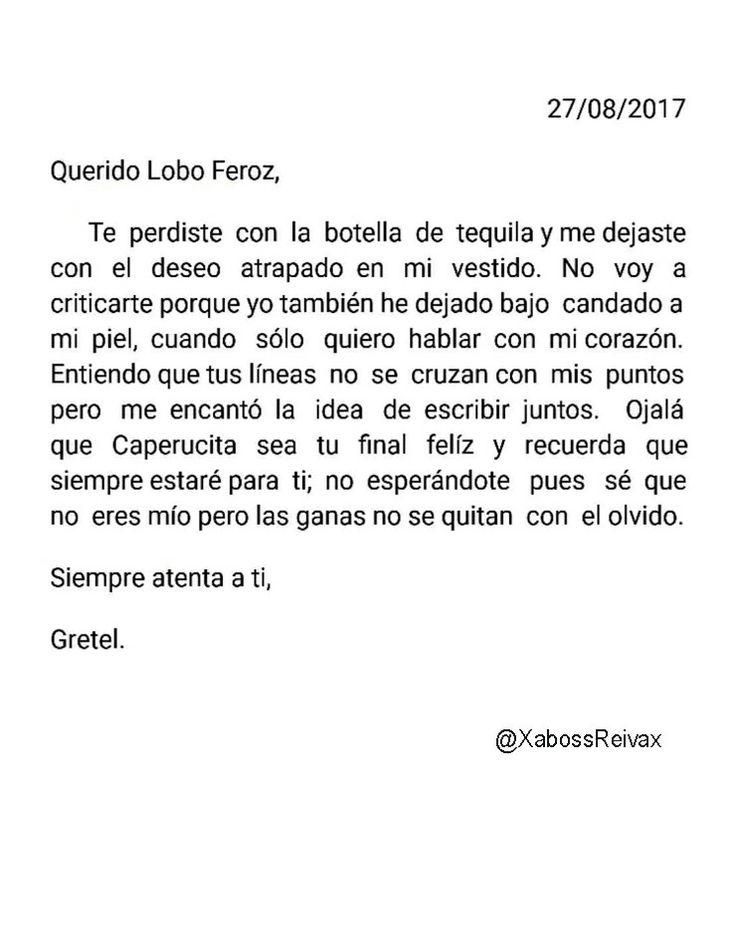 Carta#30   @XabossReivax   #ByXaboss