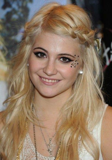 Pixie Lott - Bohemian side braids hairstyle