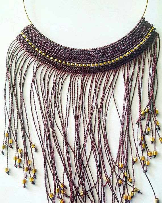 Check out this item in my Etsy shop https://www.etsy.com/listing/471969924/macrame-necklace