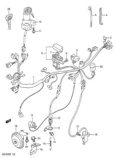 Suzuki Bandit Wiring Diagram : Suzuki bandit gsf wiring diagram sv