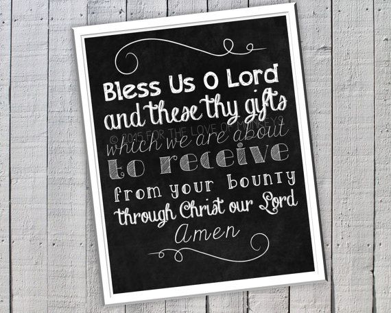 Grace Before Meals Prayer Decorative by ForTheLoveOfMonkeys