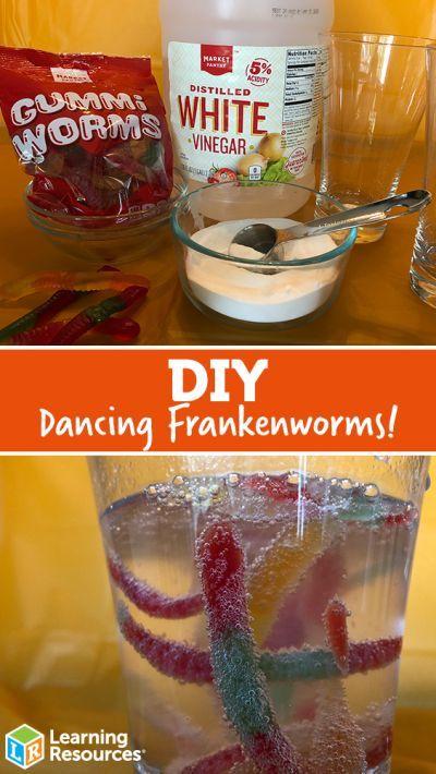 DIY Dancing Frankenworms – Halloween Crafts and Activities – #Activities #crafts #Dancing #Diy #Frankenworms