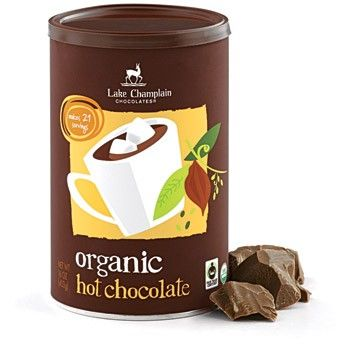 Organic Fair Trade Hot Chocolate   http://www.lakechamplainchocolates.com/fair-trade-chocolate.html