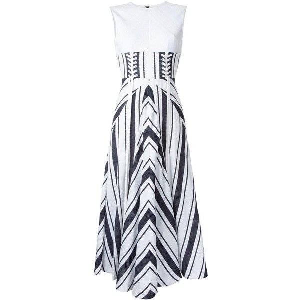 Alex Perry 'Carter' dress ($1,215) ❤ liked on Polyvore featuring dresses, white, alex perry, white day dress, alex perry dresses and white dress