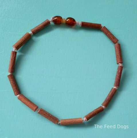 Raw Hazelwood Teething Necklace    .FREE SHIPPING. by TheFeedDogs, $18.00