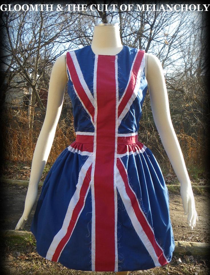 Summer dress I love: Union Jack Cotton Flag Dress by gloomth on Etsy
