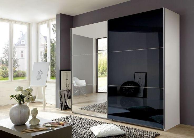 Kleiderschrank spiegel modern  Schwebetürenschrank Schwarz Weiß | tesoley.com