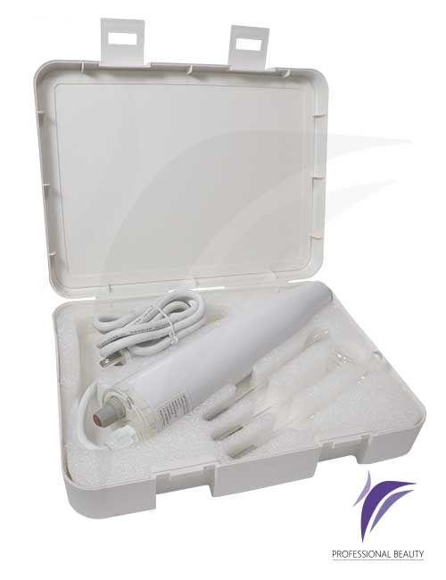 Equipo Alta Frecuencia x3 Portátil Starwork: El equipo genera corrientes de alta frecuencia que son utilizadas a través de sus electrodos de vidrio de rayos ultravioletas o gas de neón para los diferentes tratamientos faciales o corporales.