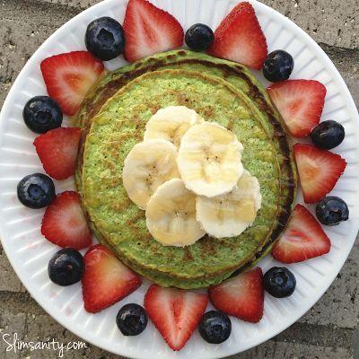 Spinach Protein Pancakes - Slim Sanity