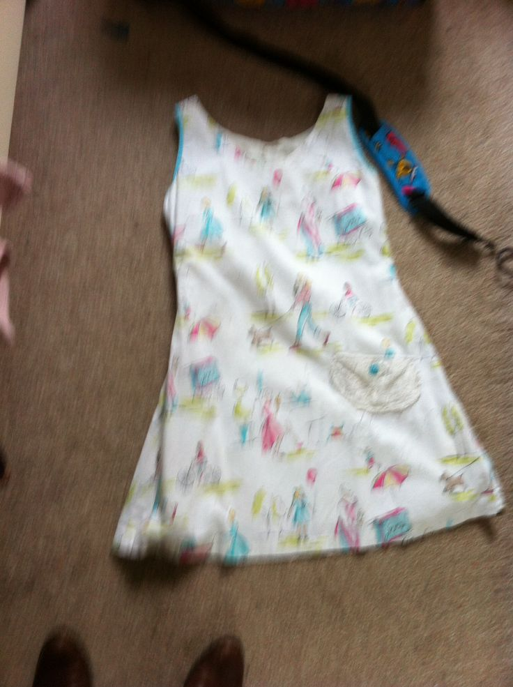 Tee dress from #thegreatbritishsewingbee minus sleeves , dress is lined so used bias binding on the sleeves (was my first attempt!) also used a button to put a pleat to the rear neckline as the dress was too large at the top for me shared for cara keeling x