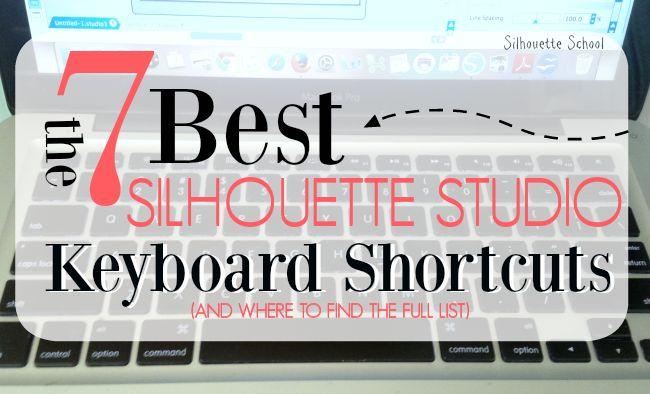 Los 7 mejores atajos de teclado silueta del estudio y dónde encontrar la lista completa