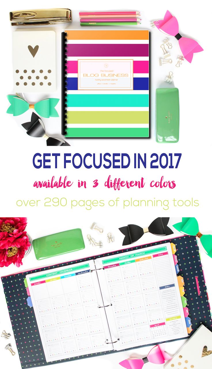 Need to get focused for 2017? This planner has it all! The best blog planner of 2017