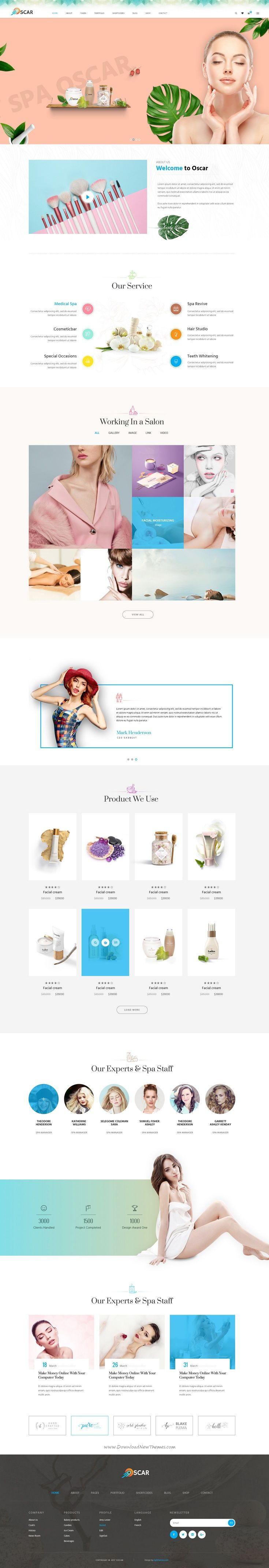 Oscar is a creative & modern multipurpose #PSD template for stunning #cosmetics shop website with 6 unique homepage, 9 Portfolio, 7 Shop layouts and 74 layered PSD files download now > https://themeforest.net/item/oscar-multipurpose-psd-template/19912272?ref=Datasata