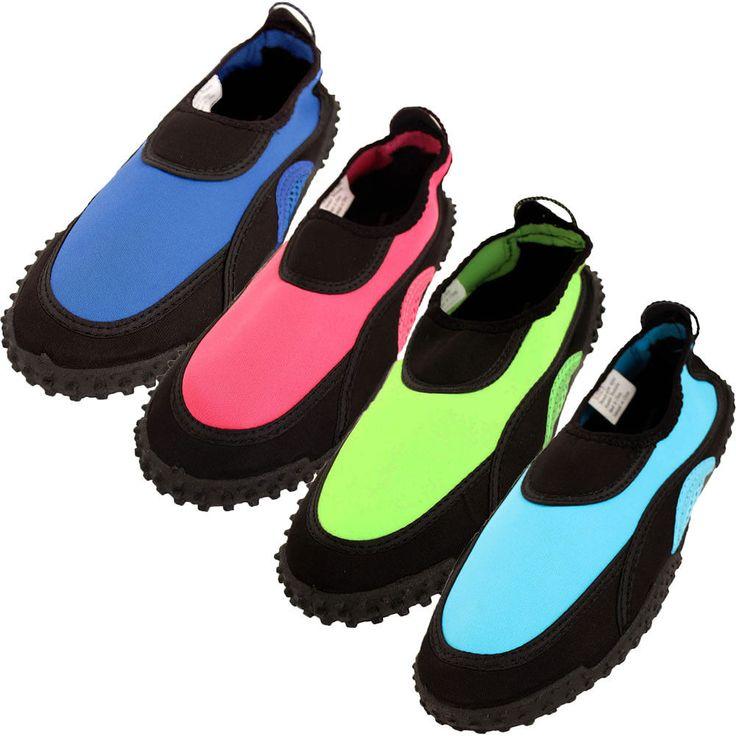 Womens Water Shoes Aqua Socks Bright Pool Beach Swim Sport On Wet No Slip Tread http://ift.tt/2EIzSCO