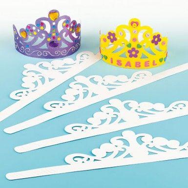 Paper tiara craft activity