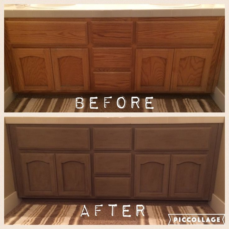 Golden Oak Kitchen Cabinets: Annie Sloan Coco With Clear And Dark Wax On Golden Oak