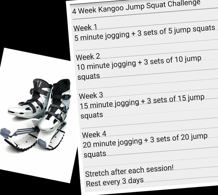 Do this easy and fun 4 week challenge with Kangoo Jumps and see for yourself how this simple but effective routine along with a clean diet and plenty of water, can help you slim down and tone those glutes, hamstrings and quads at the same time. You'll not only have fun while you are at it and see results, but will experience and enjoy all the benefits of rebounding!  Come back after the four weeks and share your experience and results with us. #KangooJumps #JumpSquats #SquatJumps #Challenge