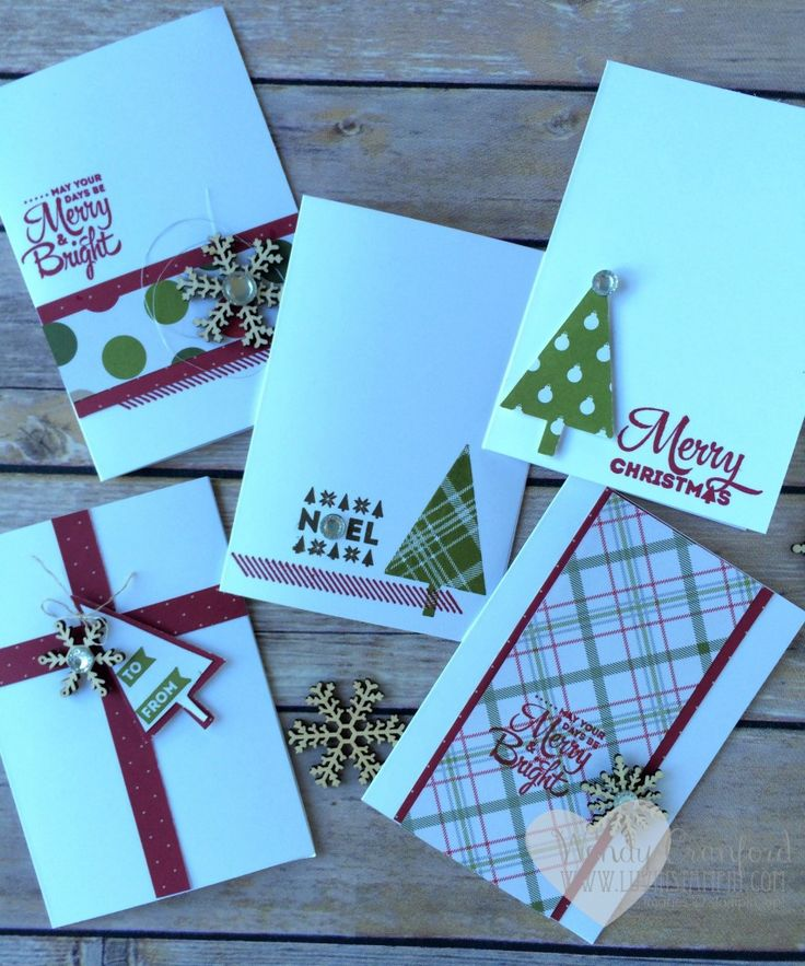 quick and easy christmas note cards using merry moments