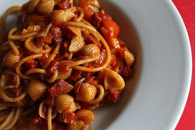 Chorizo and red pepper pasta sauce2.4 syns