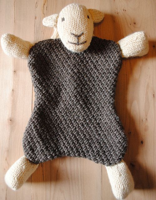 Sheep hot water bottle cover ~ FREE pattern PDF.