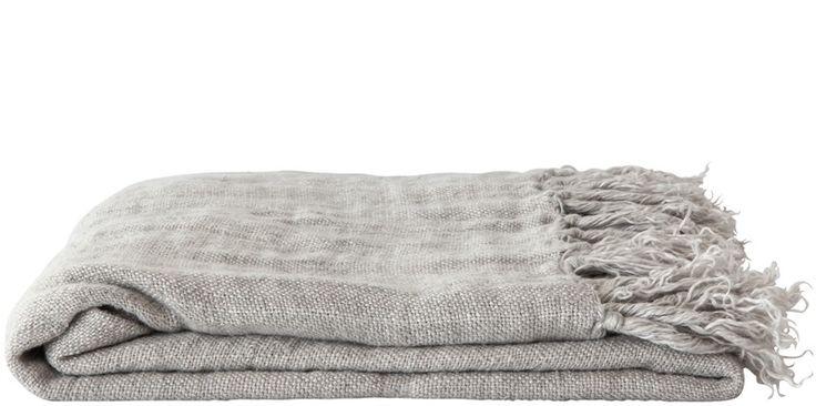 Linen Throw – Silver
