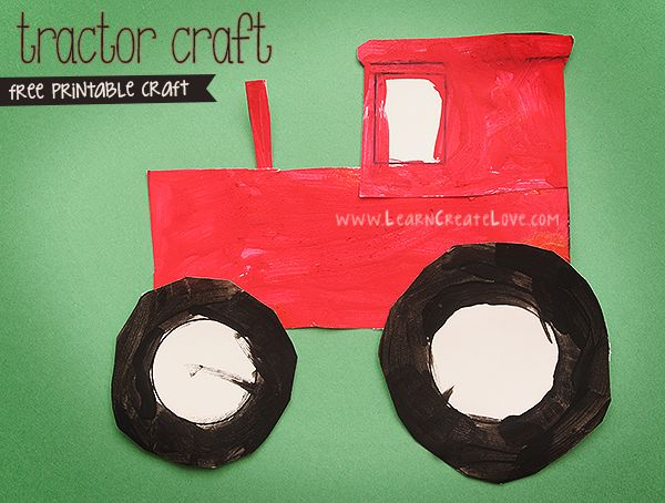 Printable Tractor Craft � Version II