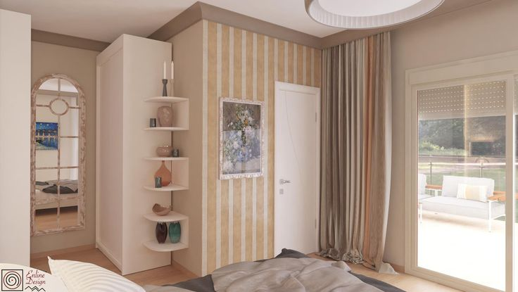 Classic bedroom design, warm and cozy colours by ENLINE DESIGN
