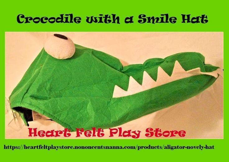 Crocodile with a Smile Novely Hat