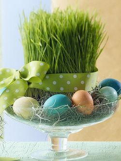 Simple Easter centerpiece to create