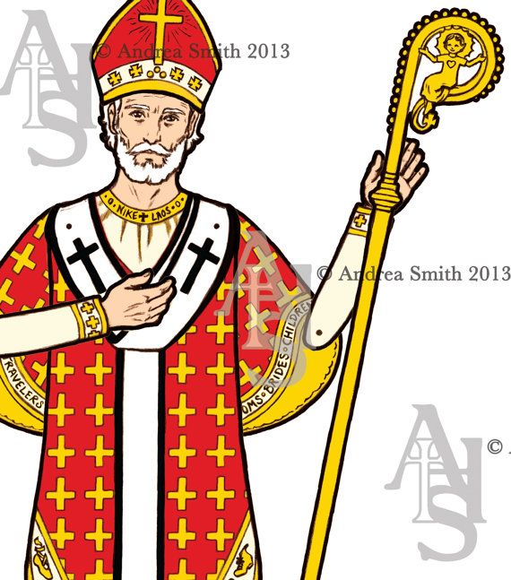 Instant Download DIY Printable Saint Nicholas Articulated Paper Doll