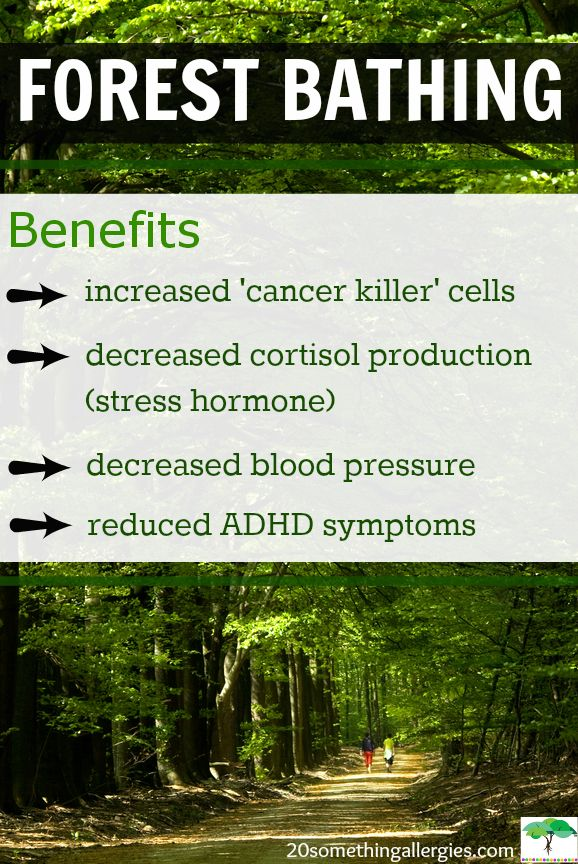 """""""[...] inhaling the chemicals phytoncide, a-pinene, and limonene released by evergreens, stimulate the activity of Natural Killer (NK) cells..."""