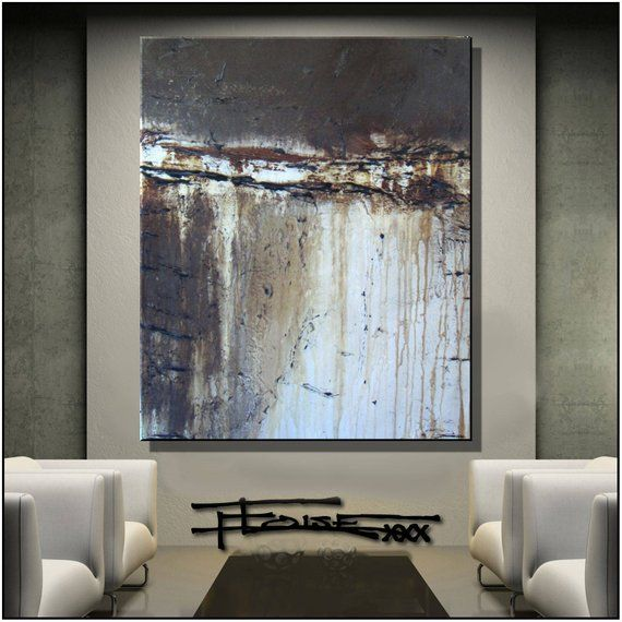 Verrassend Textured Painting, Modern Canvas Wall Art, 48 x 36 x 1.5 inch DB-17
