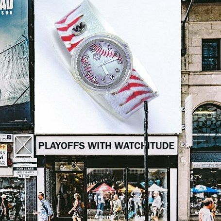 The Major league baseball playoffs have begun put on your watchitude and root root root for your team if they don't win at least you'll always have your watchitude #watchitudes #letsgomets  #nlcs #alcs
